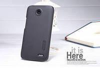 Чехол бампер пленка Nillkin Super Frosted Shield для телефона смартфона Lenovo A820  black черный