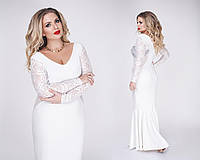 Платье женское в пол белое ТК/-1095