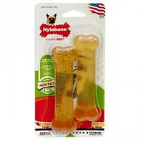 Nylabone Flexi Chew Twin Pack НИЛАБОН ФЛЕКСИ ЧЬЮ жевательная игрушка кость для собак до 7 кг с умеренным стилем грызения, компл. 2шт., два вкуса