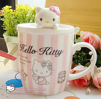Чашка Китти с крышечкой