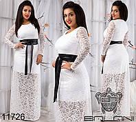 Вечерние платья больших размеров на новый год р. 48-54 11726 4 цвета