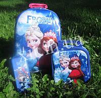 Детский набор:чемодан на 6 колесах,рюкзак, пенал - Frozen