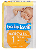 Подгузники Babylove 1 newborn (2-5 кг) 28 шт.