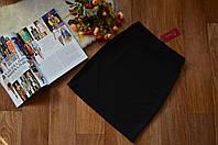 Стильная женская юбка мини однотонная черная