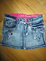 Джинсовая юбка для девочек  4 лет., фото 1