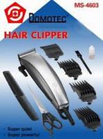 Машинка для стрижки волос Domotec DM 4600/4604/4602: 4 насадки, лезвия нержавеющая сталь, ножницы