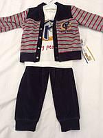 """Велюровый костюм для мальчика """"Аполон"""" тройка. Одежда для детей. Костюмы детские."""