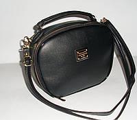 Оригинальный женский клатч через плечо черного цвета