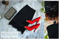 Стильная женская юбка с кружевом черная