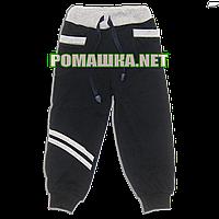 Детские спортивные штаны для мальчика р. 104 тонкие ткань ИНТЕРЛОК ТМ Алекс 3287 Синий