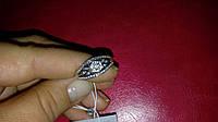 Женское серебряное кольцо с фианитами