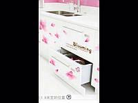 Наклейка на стену розовые цветы