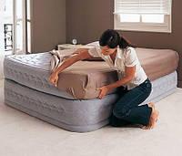 Двухспальная надувная кровать Supreme Air-Flow Bed intex 66962 (152см х 203см х 51см)