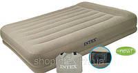 Intex 67748 Двуспальная надувная кровать  (203x152x38 см.)