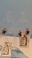 Ювелирный комплект украшений из серебра с золотом с подвесом , Альпинит