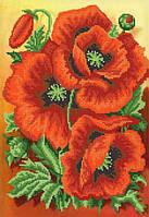 Ткань с рисунком для вышивания бисером  Красный бархат РКП-599