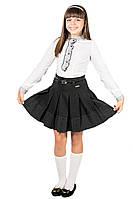 Юбка в складку для девочки. Школьная форма