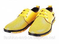 Туфли подростковые летние из натуральной кожи