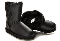 Детские UGG Baby Bailey Button Leather Black  Оригинал. угги недорого детские, детские угги