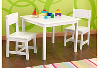 Стол со стульями Aspen белый KidKraft 21201