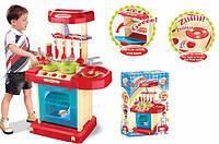 Тематический игровой набор Кухня 008-58, +звук, +свет, складывается в чемоданчик. Детская кухня с посудой