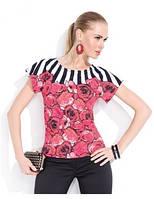 Блузка женская с коротким рукавом Zaps Iris красная