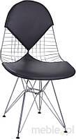 Стул Net double в необычной форме с черным сиденьем