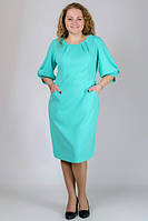Голубое платье с карманами большого размера