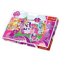 Пазлы 16503 Trefl, Hasbro, My Little Pony, Маленькие пони, меняет цвет, 2х50дет, в кор-ке, 33-23-4см