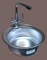 Кухонная мойка круглая 510x190 GERMECE Decor