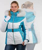 Куртка зимняя женская голубая/белая, размеры: 44,46,48, Цвета: разные