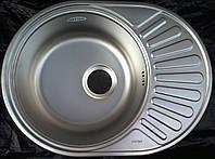 Кухонная мойка круглая с полкой(овальная) 600х440х180 GERMECE Decor