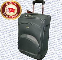 Большой турецкий чемодан на двух внутренних прорезиненных колёсах фирмы CCS