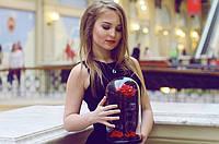 Роза в стеклянной колбе,  подарок для милых дам!