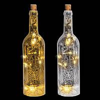 """Декоративное украшение """"Бутылка"""" Ø7.2*28см серебристая"""