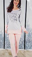 Трикотажная женская пижама №2757