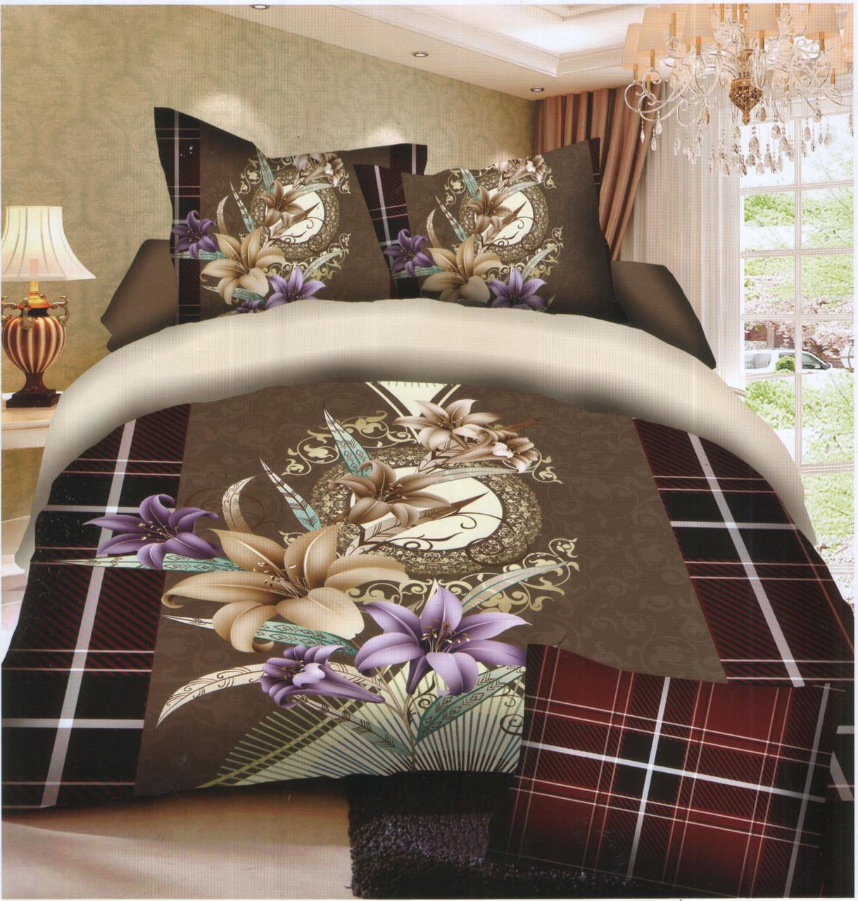 Комплект постельного белья (евро-размер) № 720