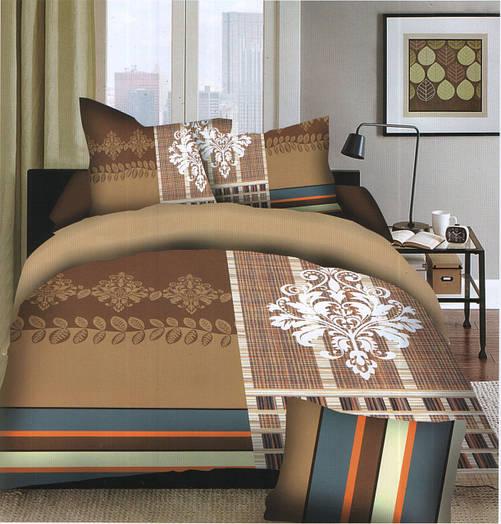 Комплект постельного белья (евро-размер) № 721
