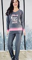Трикотажная женская пижама №2772