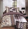 Комплект постельного белья (евро-размер) № 723
