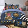 Комплект постельного белья (евро-размер) № 726