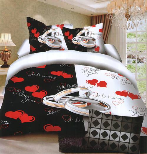 Комплект постельного белья (евро-размер) № 729