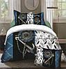 Комплект постельного белья (евро-размер) № 733