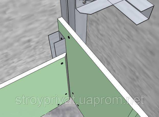 Как сделать каркас для гипсокартона в углу