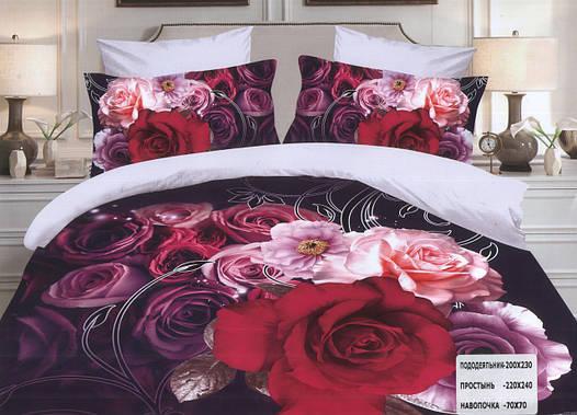 Комплект постельного белья (евро-размер) № 741