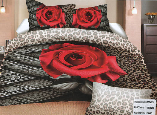 Комплект постельного белья (евро-размер) № 752
