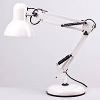 Настольный светильник на подставке + струбцина  в комплекте белая