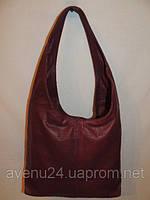 Женская сумка из натуральной кожи (Италия) Бордовый