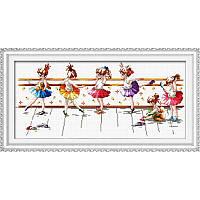 Набор для вышивки крестом «Балерины» (45 х 20 см) DOME 90808