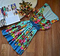 Летнее платье-майка из натуральных тканей
